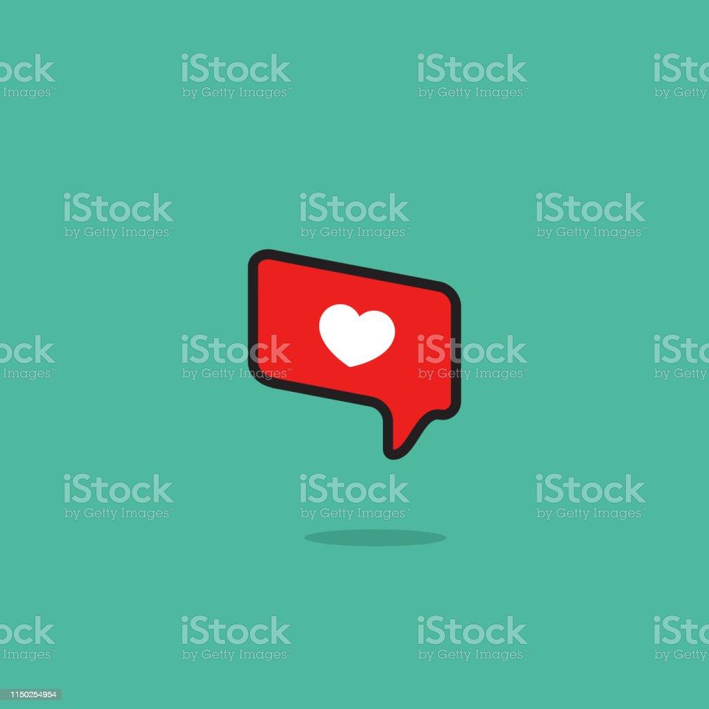 Vector illustration of social media like on blue background.