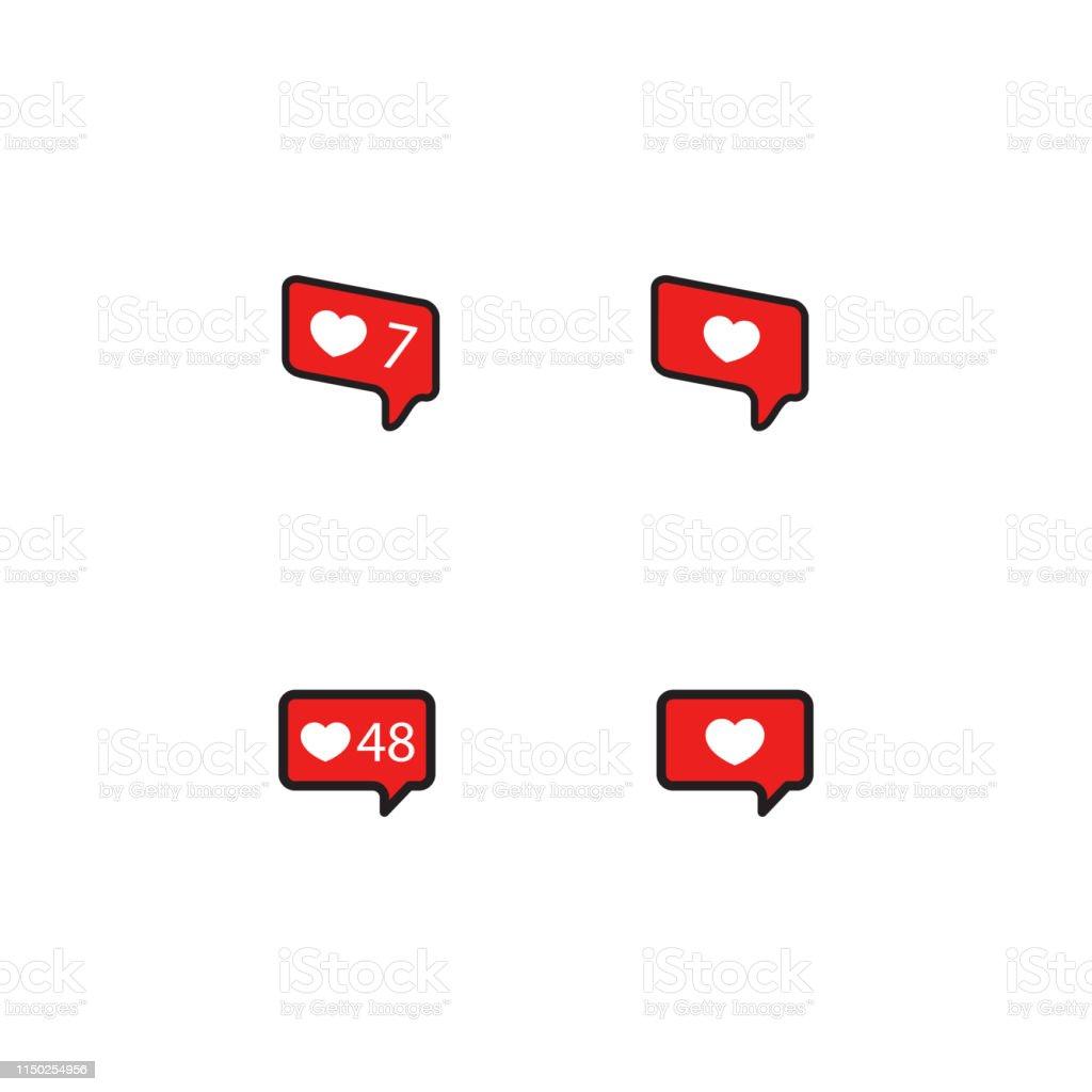 Vector illustration of social media likes.