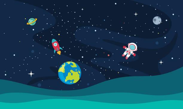 векторная иллюстрация пространства - space background stock illustrations