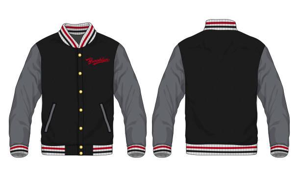 illustrazioni stock, clip art, cartoni animati e icone di tendenza di vector illustration of sport jacket - giacca