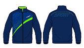Vector illustration of sport jacket