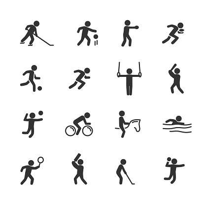 Vector illustration of sports action icon.Sports game.