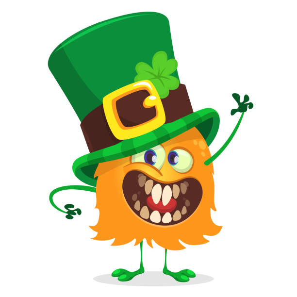 Royalty Free Cartoon Of A Scary Leprechauns Clip Art, Vector Images ...