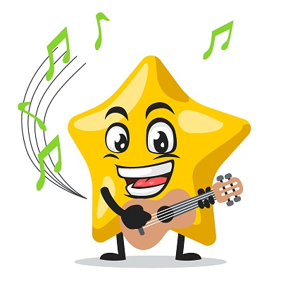 Vector illustration of star mascot or character