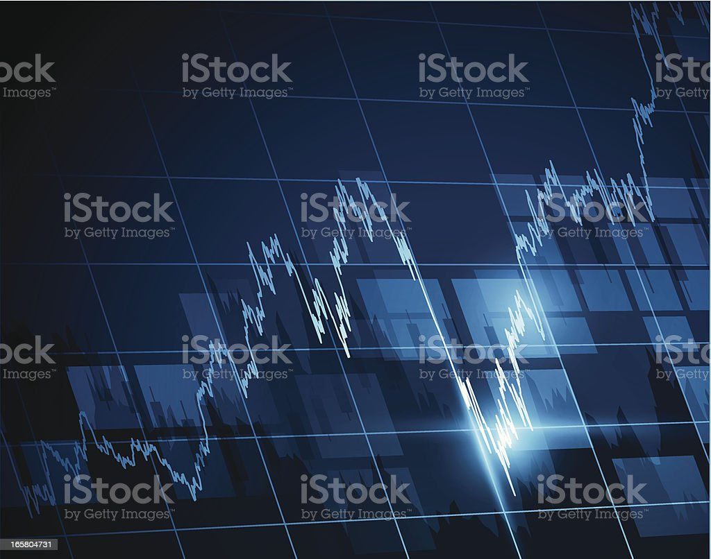 Vector illustration of stock exchange chart royalty-free stock vector art