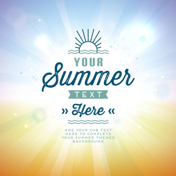 vector illustration of summer background - sunrise stock illustrations, clip art, cartoons, & icons