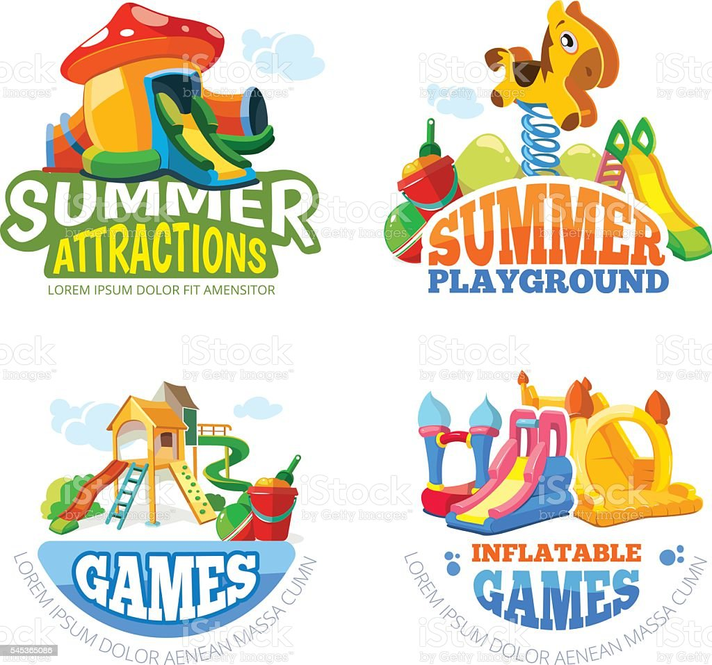 Vector illustration of summer labels vector art illustration