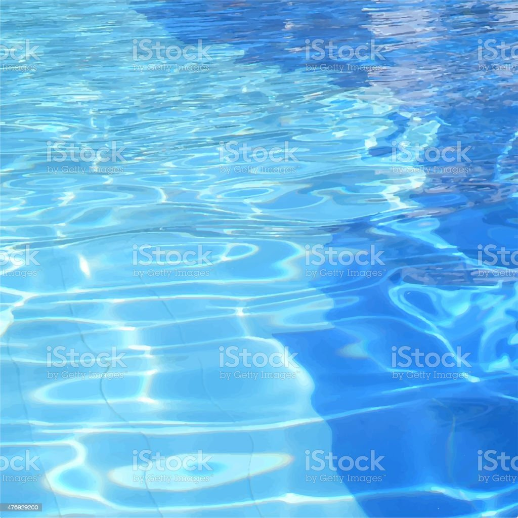 Vector Illustration Of Swimming Pool Water Background