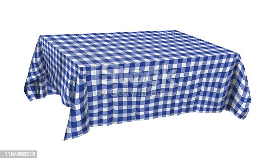 istock Vector illustration of tablecloth on the table 1164868278