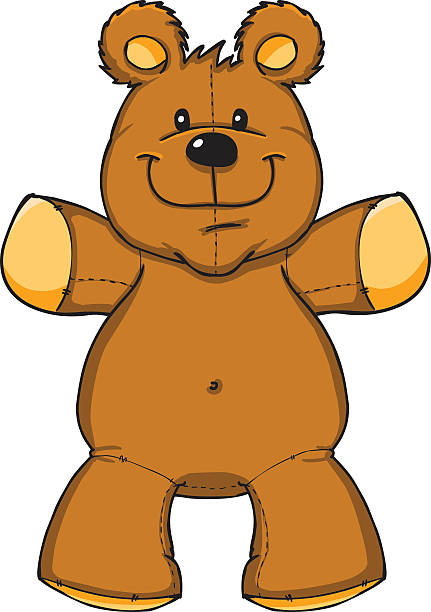 Vector illustration of teddy bear with open arms