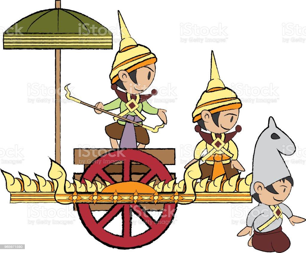 Vectorillustratie van Thailand hoek - Royalty-free Abstract vectorkunst