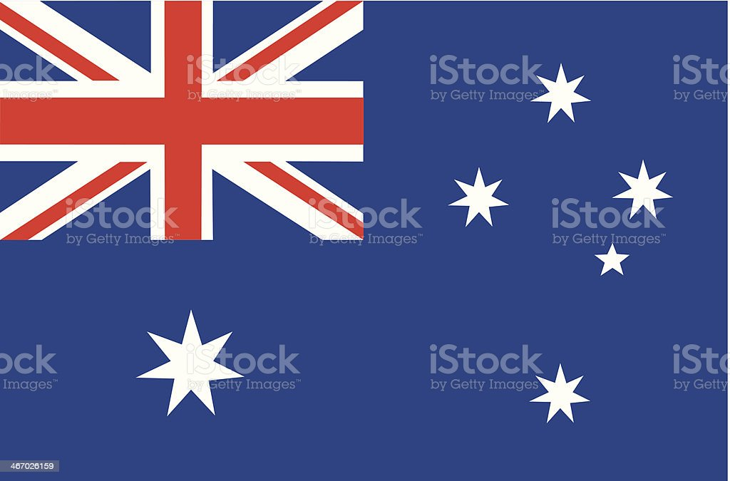 Vector illustration of the Australian flag vector file of Australian flag Australian Flag stock vector