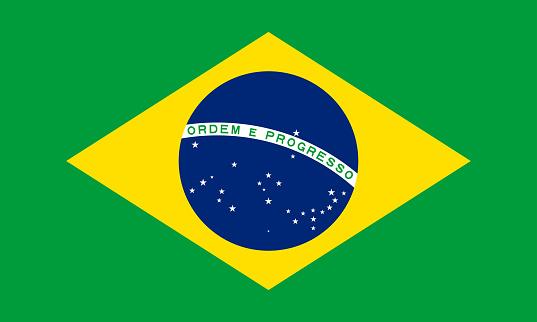 vector illustration of the Brazil flag. patriotic concept