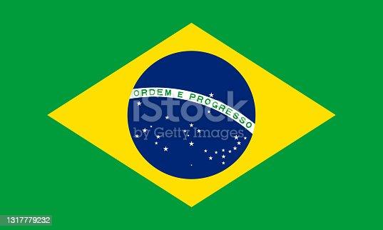 istock vector illustration of the Brazil flag. patriotic concept 1317779232