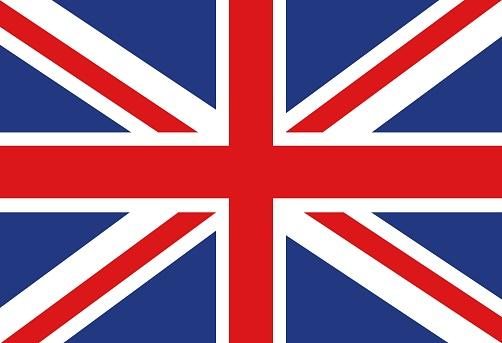 Vector illustration of the British flag