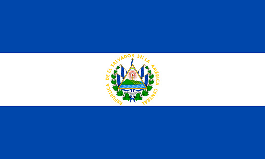 vector illustration of the El Salvador flag. patriotic concept
