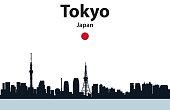 Vector illustration of Tokyo cityscape silhouette