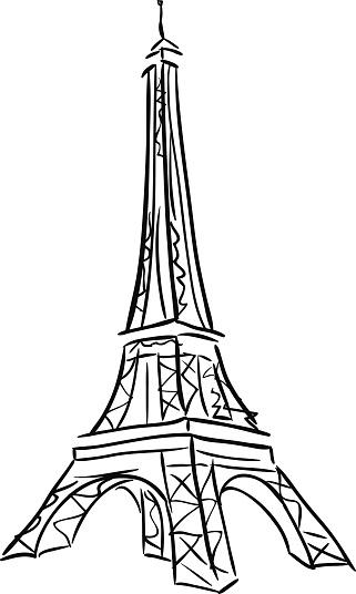 Vector illustration of Tower Eiffel.