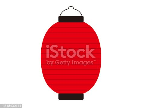 istock Vector illustration of traditional Japanese lanterns. paper lantern . 1313430744