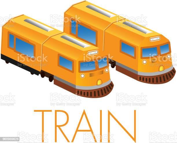 Vector Illustration Of Train - Arte vetorial de stock e mais imagens de Comboio