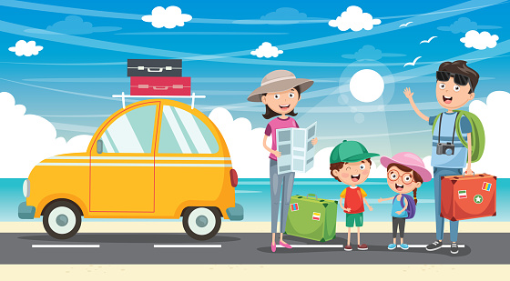 Vector Illustration Of Travelling - Immagini vettoriali stock e altre immagini di Adulto