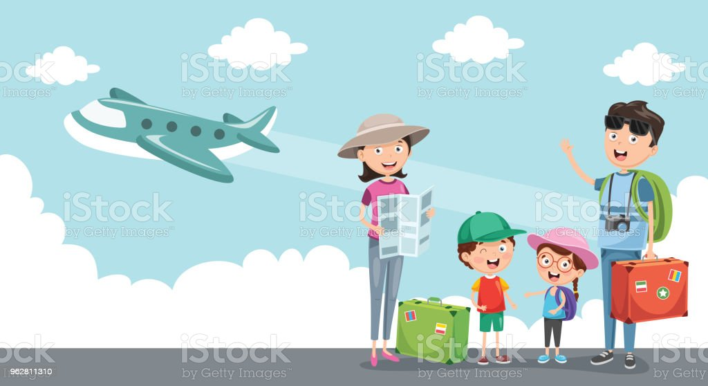 Vector Illustration Of Travelling - arte vettoriale royalty-free di Adulto