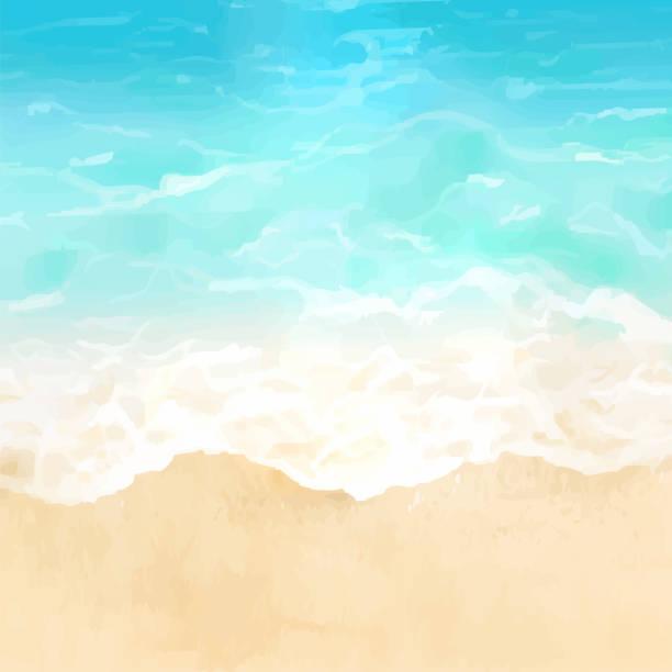 gündüz tropikal plaj vektör illüstrasyon. - beach stock illustrations