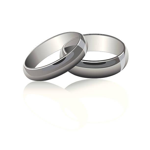 обручальные кольца серебристый - four seasons stock illustrations