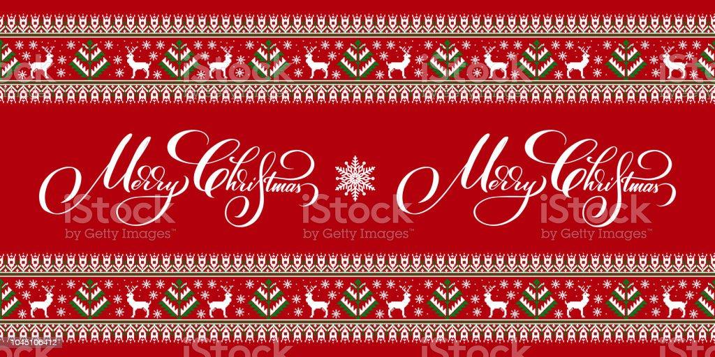 Frohe Weihnachten Ukrainisch.Vektorillustration Der Ukrainischen Folk Nahtlose Muster