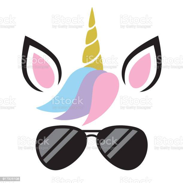 Vector illustration of unicorn wearing sunglasses vector id917325108?b=1&k=6&m=917325108&s=612x612&h=esx8jaqp8w7zakh7svq9ohxw5unoi7qiy5zzbmw uzk=