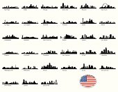 Thirty Three of United States biggest cities skylines.