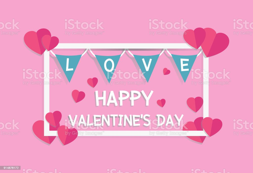 Royalty Free Hanging Pink Hearts Clip Art Vector Images