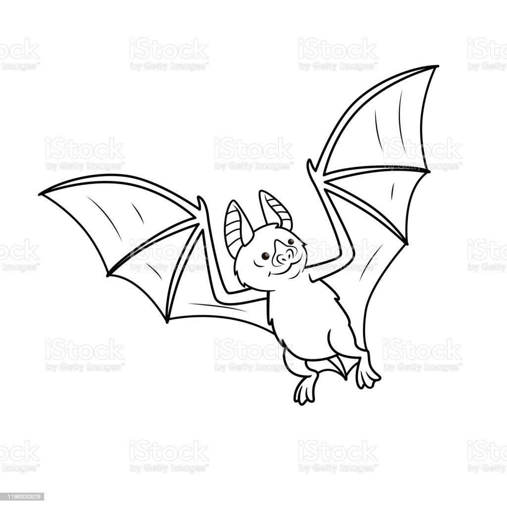 Beyaz Arka Planda Izole Vampir Yarasa Vektor Illustrasyon Cocuklar