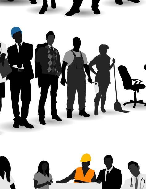 ilustraciones, imágenes clip art, dibujos animados e iconos de stock de ilustración vectorial de diversas profesiones - obrero de la construcción