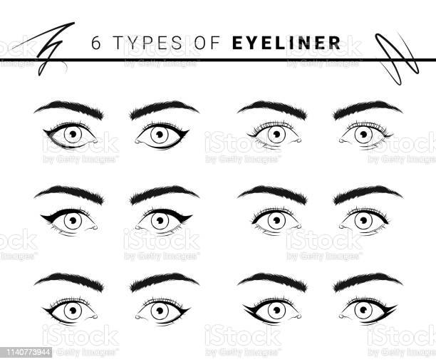 Vector illustration of various types and styles of eyeliner on white vector id1140773944?b=1&k=6&m=1140773944&s=612x612&h=n6antozjqlnps0ebjp1bjayrn jcag9cj1yduai6aeo=
