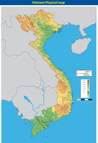 Vectorillustratie Van Vietnamphysicalmap Stockvectorkunst en meer beelden van Azië