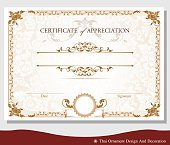 Vector illustration of vintage certificate