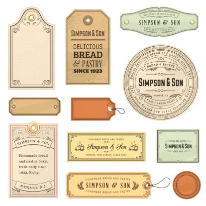Vector illustration of vintage labels