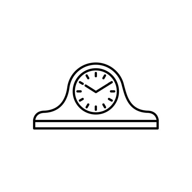 Royalty Free Traditional Office Desk Clip Art, Vector