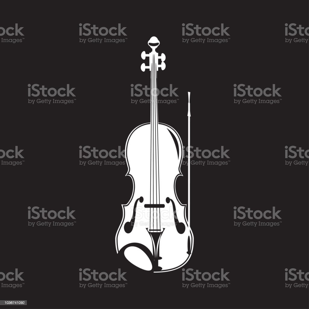 vector illustration of violin white template stock vector art more