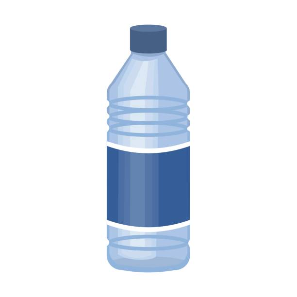 Royalty Free Water Bottle On White Clip Art, Vector Images ...