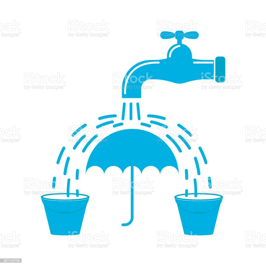 Vector Illustration Of Water Conservation Concept Stock