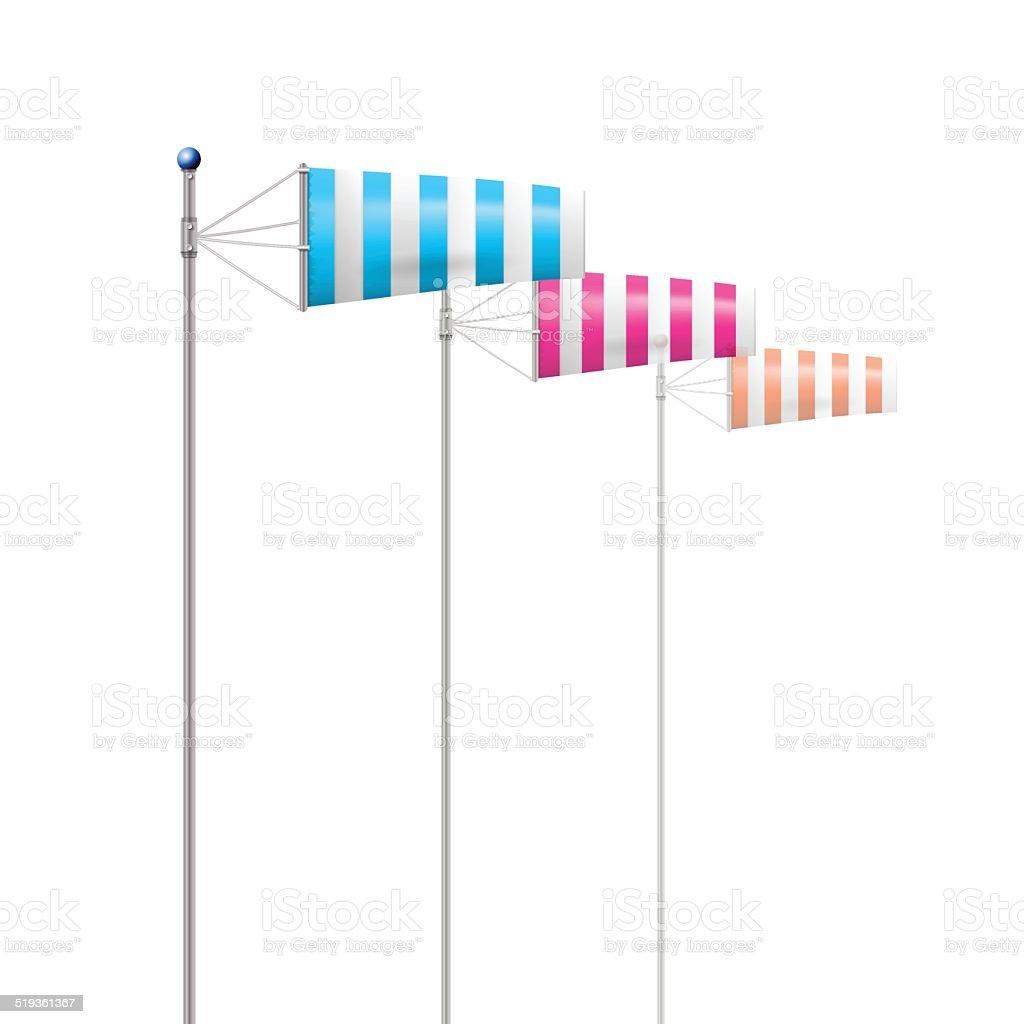 Ilustração em vetor de windsocks pelo vento - ilustração de arte em vetor