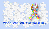 Vector illustration of World autism awareness day