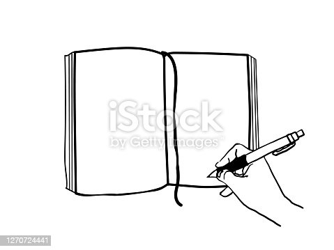 istock vector illustration of writing in a notebook 1270724441