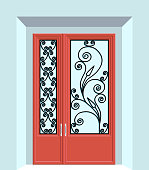 Wrought Iron Vector Door Art Deco Art Nouveau