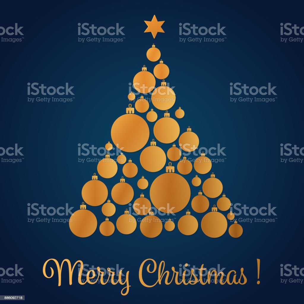 Ilustración de Ilustración De Vector De Amarillo Oro Color Navidad ...