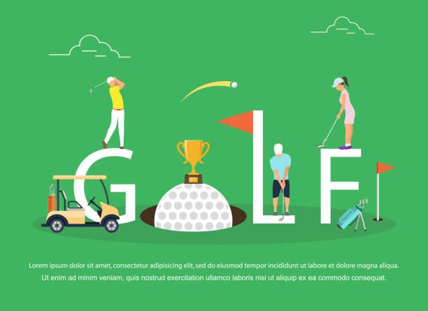 ゴルフの若者のベクトル イラスト - ゴルフ点のイラスト素材/クリップアート素材/マンガ素材/アイコン素材