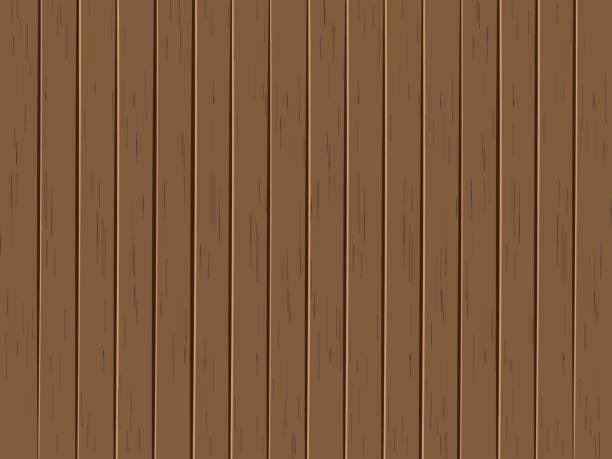 Vector Illustration alte Holzplatten Hintergrund – Vektorgrafik