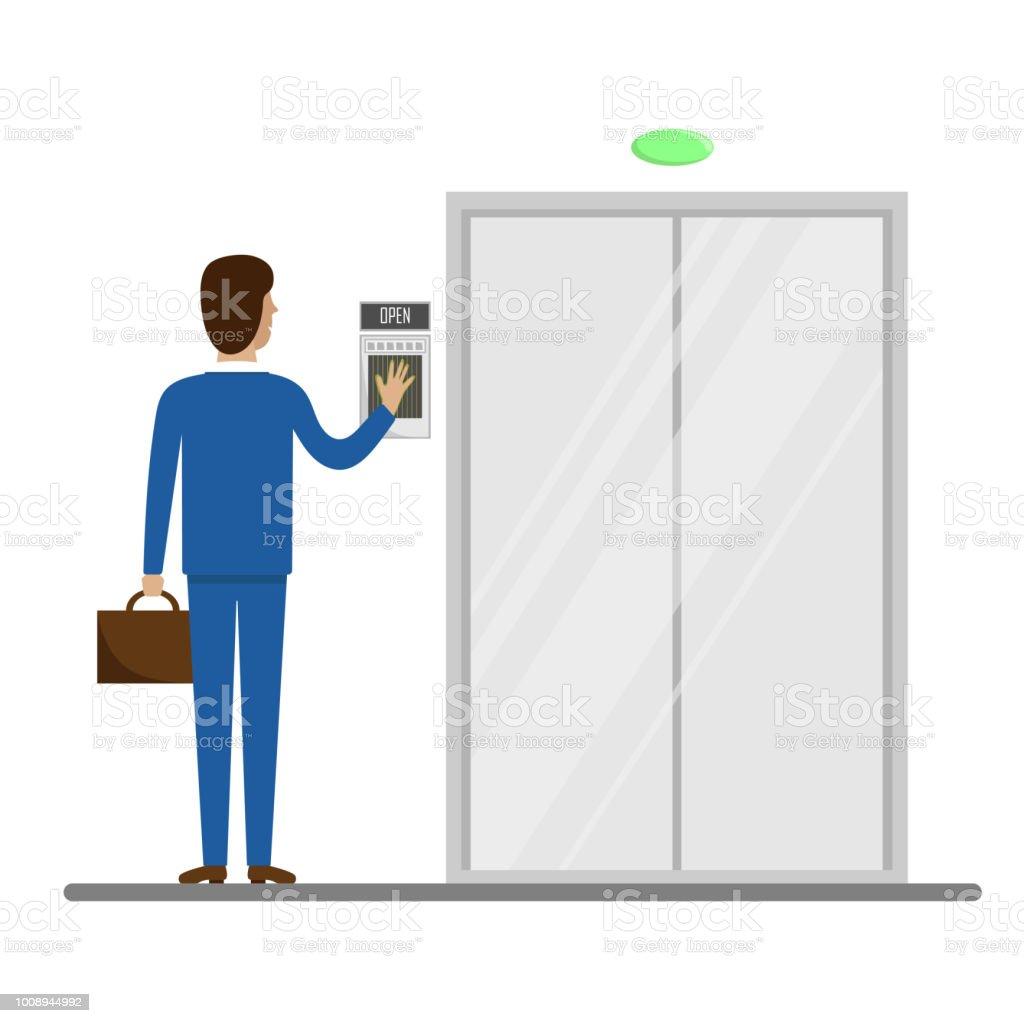 ドア を 開ける イラスト